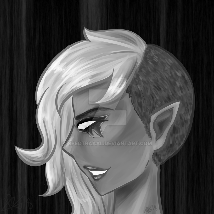 Riley - Black and White by CryDontSmile