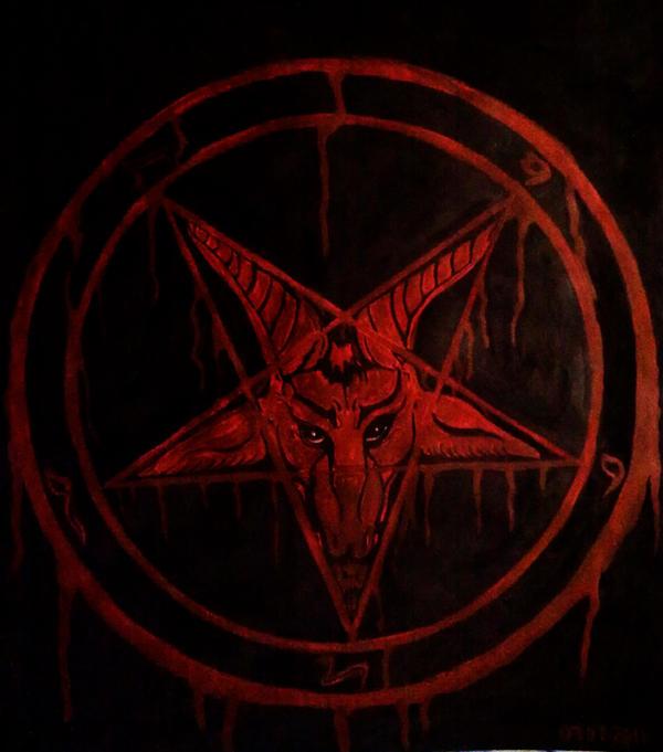 how to draw a satanic pentagram