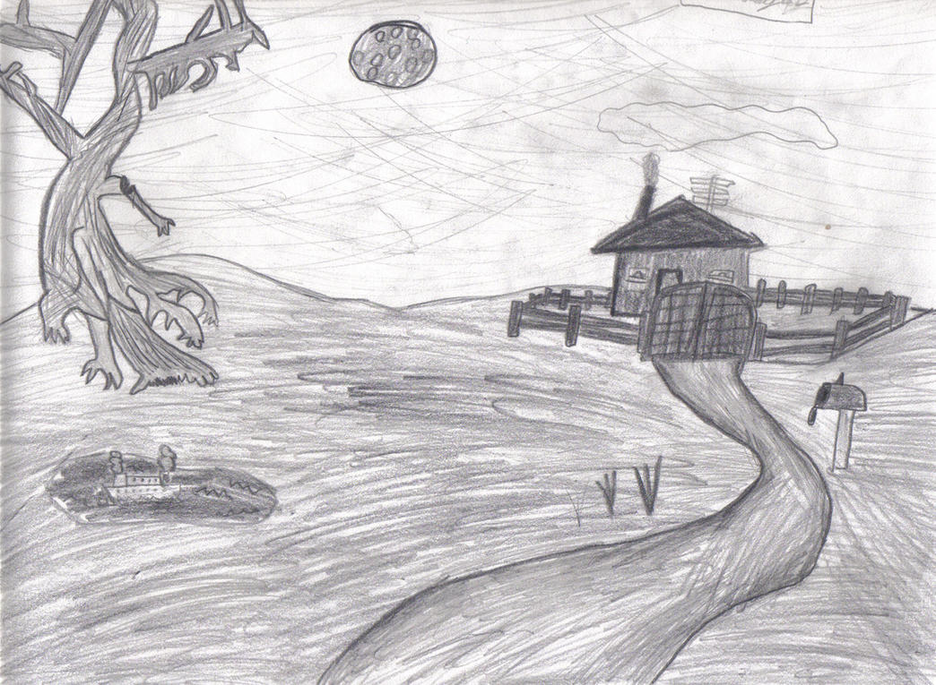 easy creepy pencil drawings - photo #16