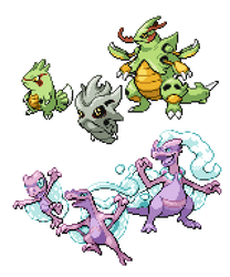 Commission - Regional Pokemon Sprites