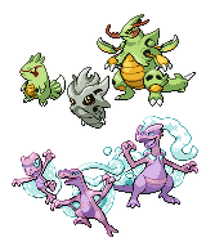 Commission - Regional Pokemon Sprites