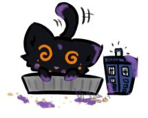 Kitten in a pie tin by kisa-tiger13666