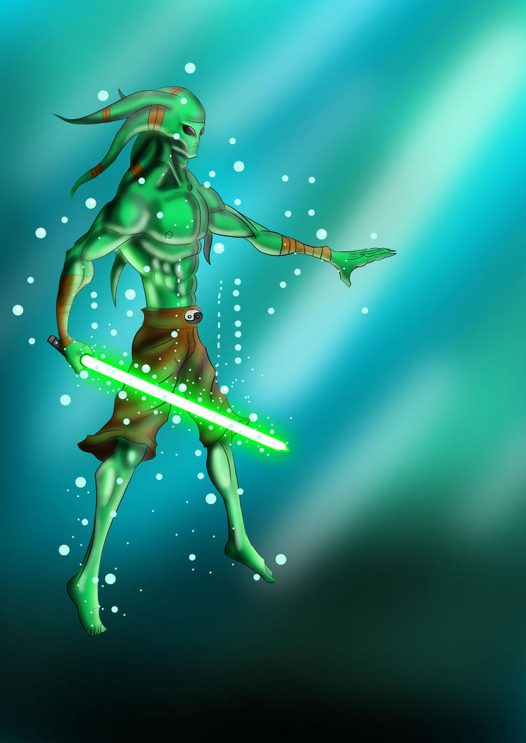 star wars-kit fisto by g-manbg on deviantart