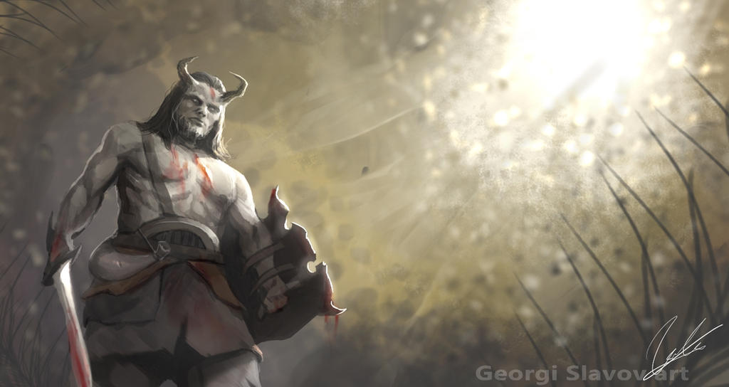 Horned warrior by G-manbg