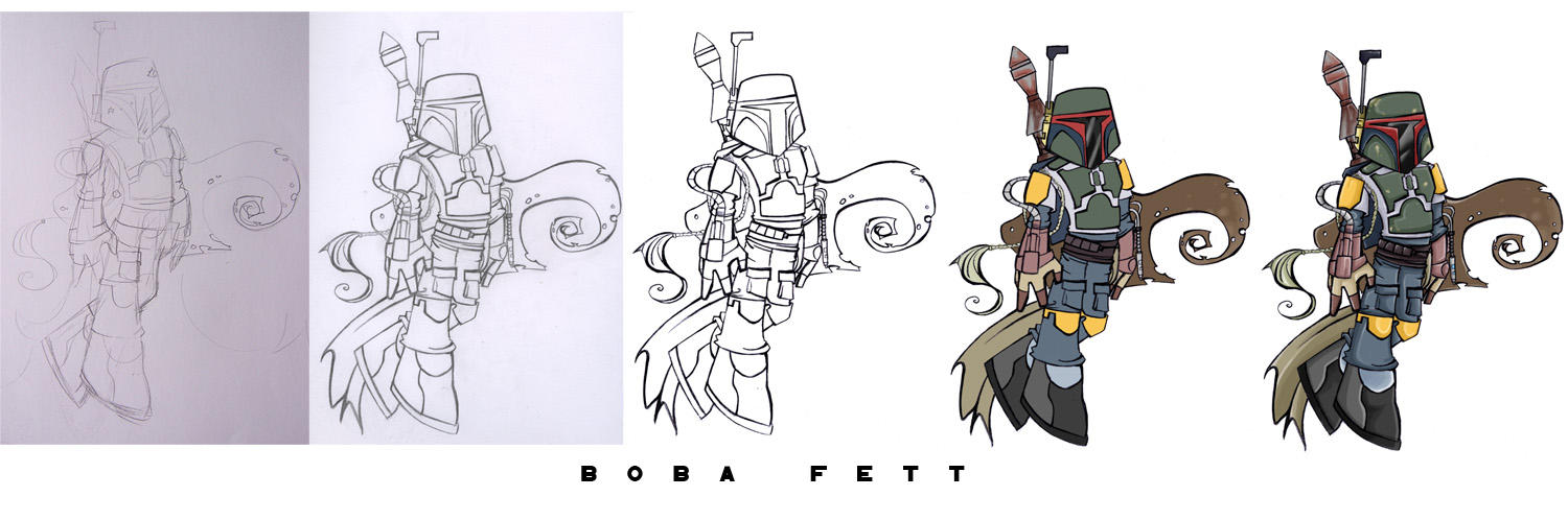 Sketch: Boba Fett by labpizza