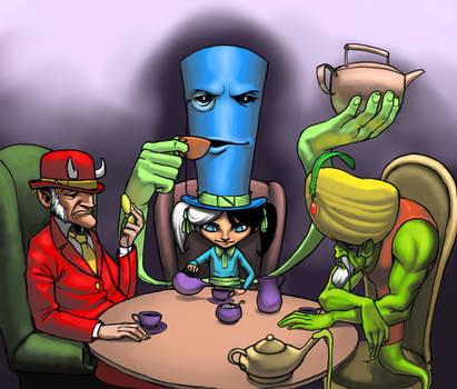 The Tea Party by BigYellowBird