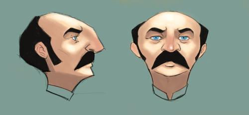 Pinkerton Head by BigYellowBird