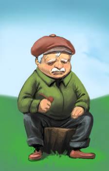 An old Scotsman by BigYellowBird