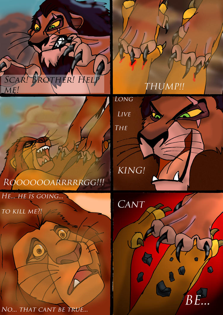 Tlk death of mufasa comic page 1 by wolfmarian