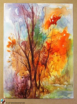 Autumn landscape by lazy-brush
