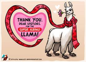 Super Albino Llama by lazy-brush