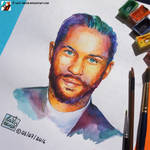 Portrait of Tom Hardy by lazy-brush