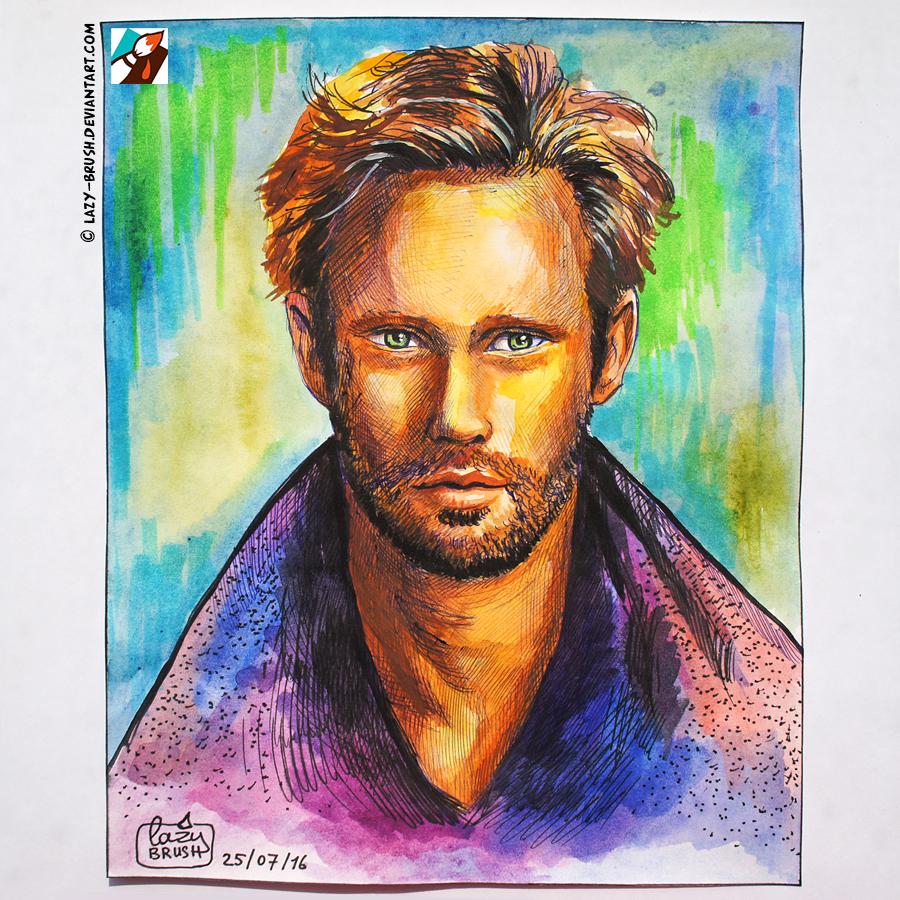 Portrait of Alexander Skarsgard by lazy-brush