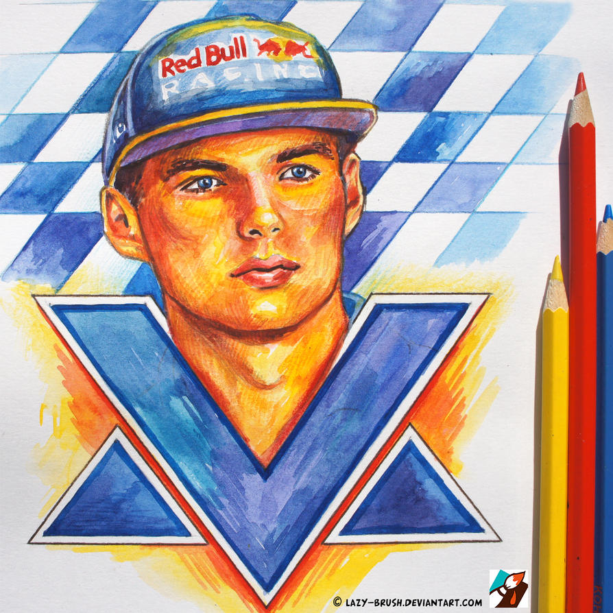 portrait of max verstappen 1 by lazy brush on deviantart. Black Bedroom Furniture Sets. Home Design Ideas