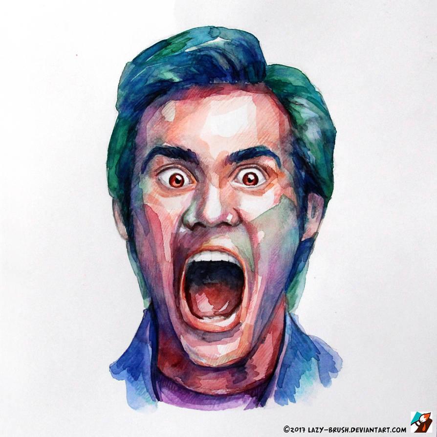 Portrait Of Jim Carrey By Lazy Brush