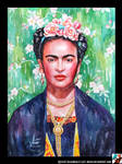Portrait of Frida Kahlo #2 by lazy-brush