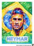 Portrait of Neymar Jr #1 by lazy-brush
