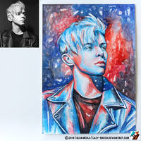 Portrait of DJ ARTY (photo vs portrait) by lazy-brush