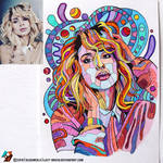 Portrait of Svetlana Loboda (photo vs portrait)