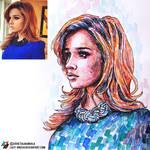Portrait of Ksenia Borodina (photo vs portrait) by lazy-brush