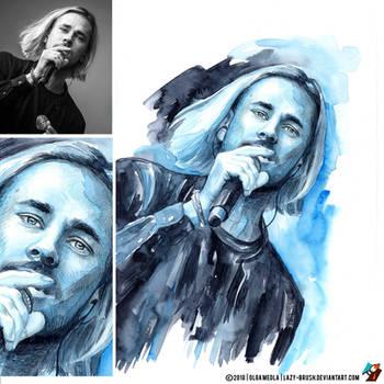 Portrait of Maksim Svoboda (photo vs portrait) by lazy-brush
