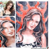 Portrait of Paulina Andreeva (photo vs portrait) by lazy-brush