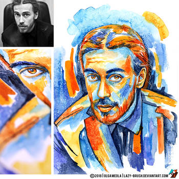 Portrait of Detsl aka Le Truk (photo vs portrait) by lazy-brush