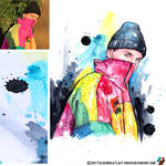 Portrait of Bazzi (photo vs portrait) by lazy-brush