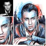 Portrait of Pavel Priluchny (photo vs portrait)