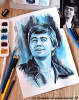 Portrait of Sergey Bodrov (photo vs portrait) by lazy-brush