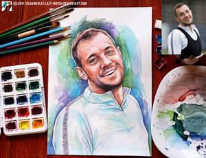 Portrait of Artem Dzyuba (photo vs portrait)