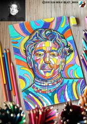 Portrait of Grigory Leps (photo vs portrait) by lazy-brush