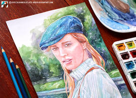Portrait of Kristina Pismennaya (WIP) by lazy-brush