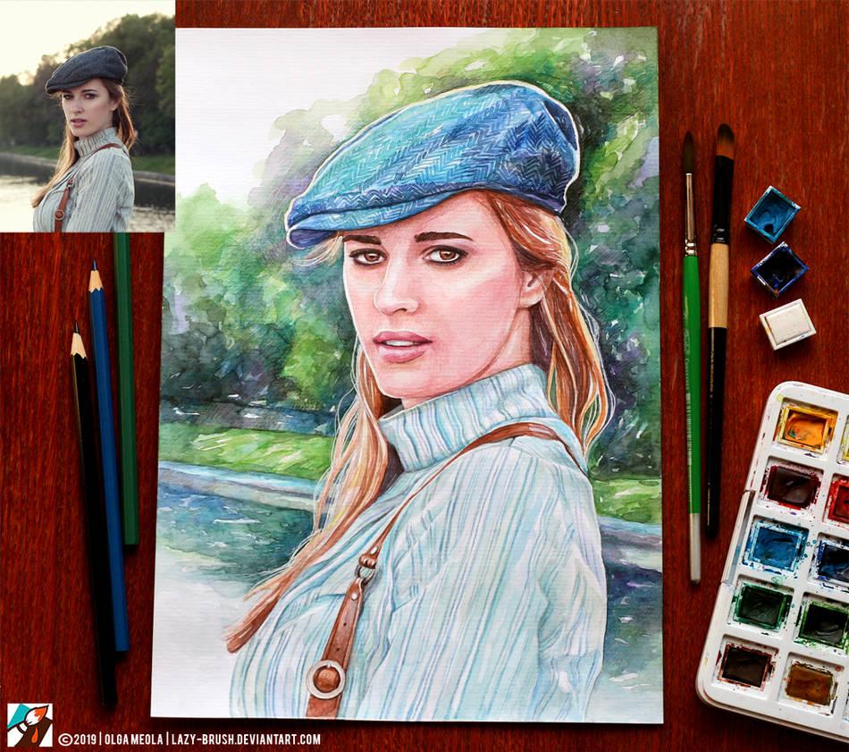 Portrait of Kristina Pismennaya by lazy-brush