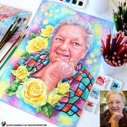 Portrait of a elderly lady (final) by lazy-brush