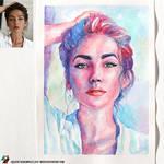 Photo of Ekaterina Ostapchuk (photo vs portrait) by lazy-brush