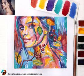 Portrait of Elena Temnikova #1 (final) by lazy-brush