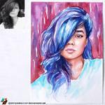 Portrait of Kadantseva Natalia (photo vs portrait)