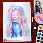 Portrait of Kate Moss (WIP) by lazy-brush