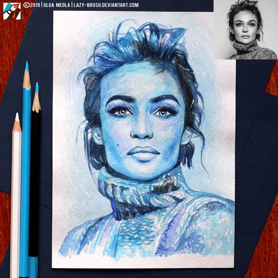 Portrait of Alena Vodonaeva (final) by lazy-brush