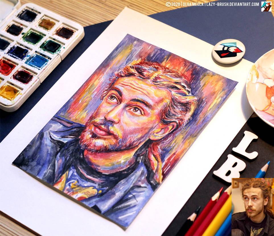 Portrait of Detsl aka Le Truk #2 (final 2) by lazy-brush
