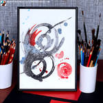 Abstraction with a red accent by lazy-brush