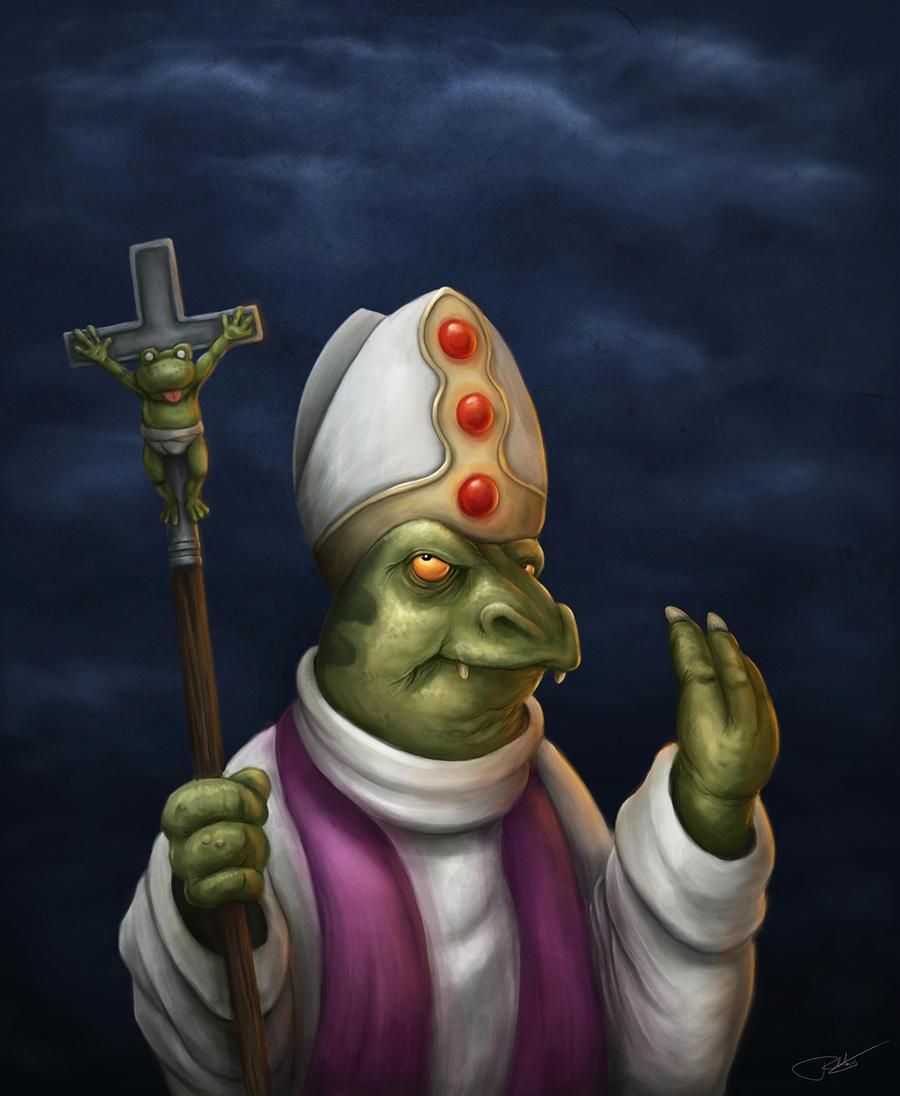Crocodylus Pontifex, the Space Pope by Ryben