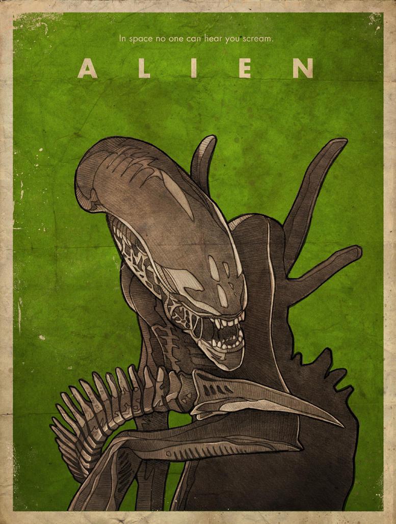 Alien movie poster by RUGIDOart
