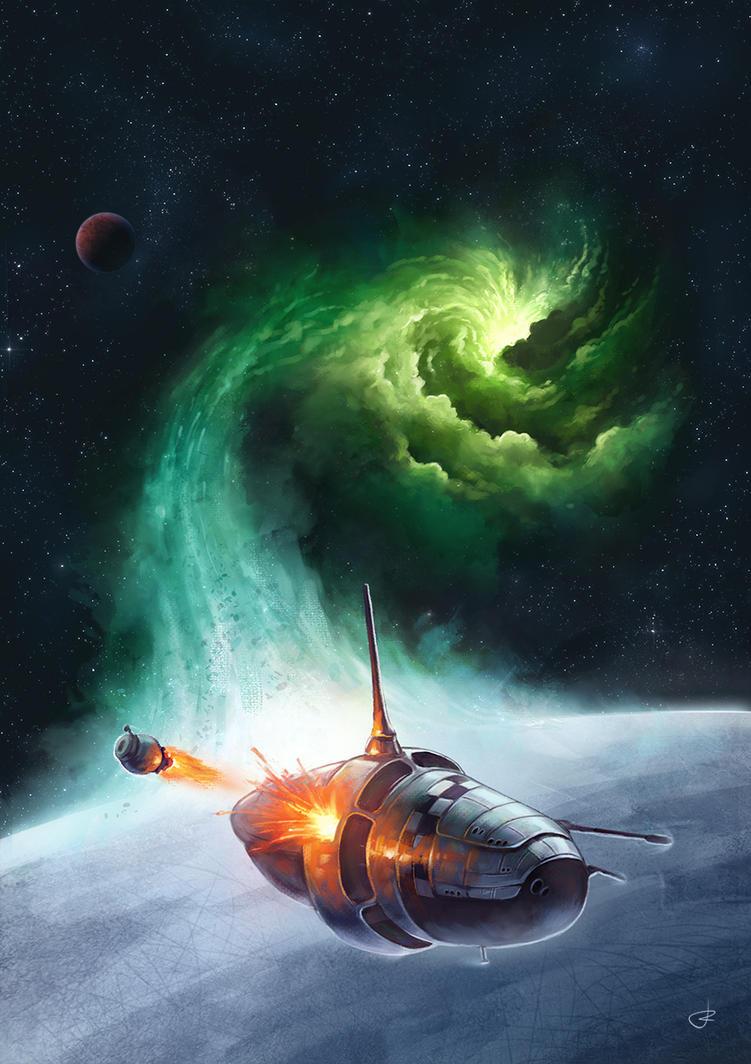 Project BE sci-fi cover illustracion by RUGIDOart