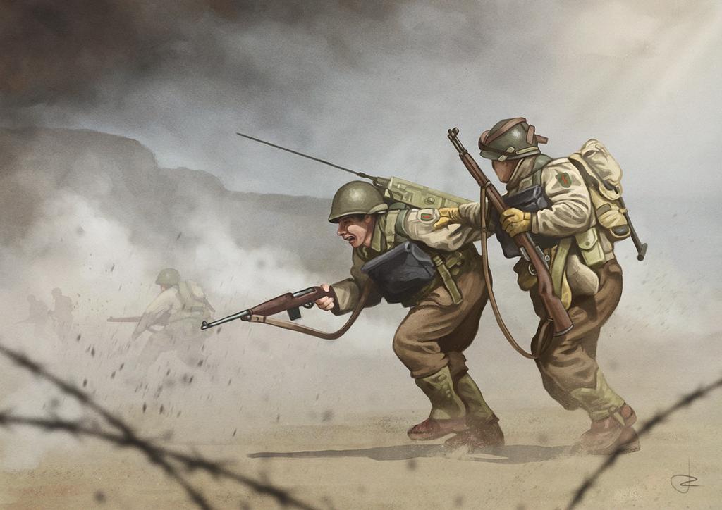 WW2 D-Day - Omaha Beach by RUGIDOart