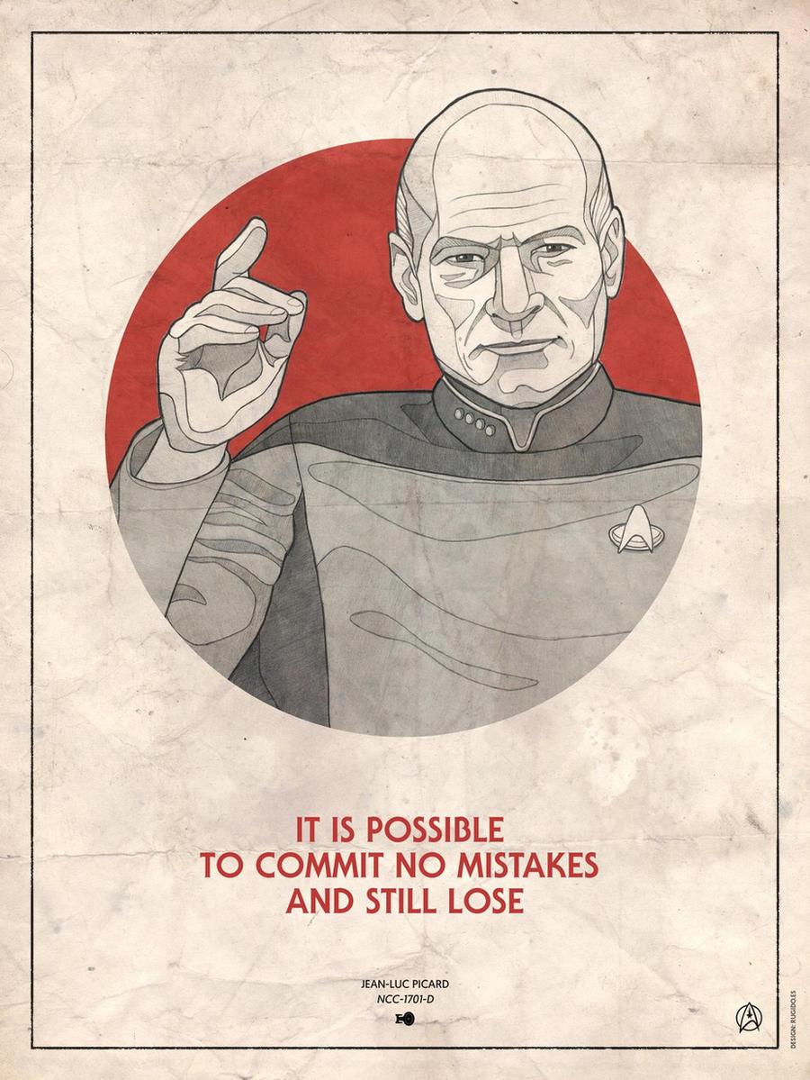 Star Trek Captains - Jean Luc Picard by RUGIDOart