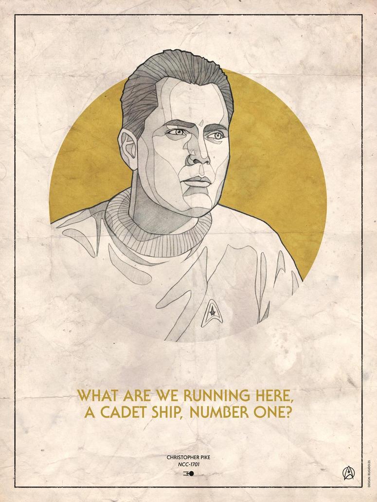 Star Trek Captains - Christopher Pike by RUGIDOart