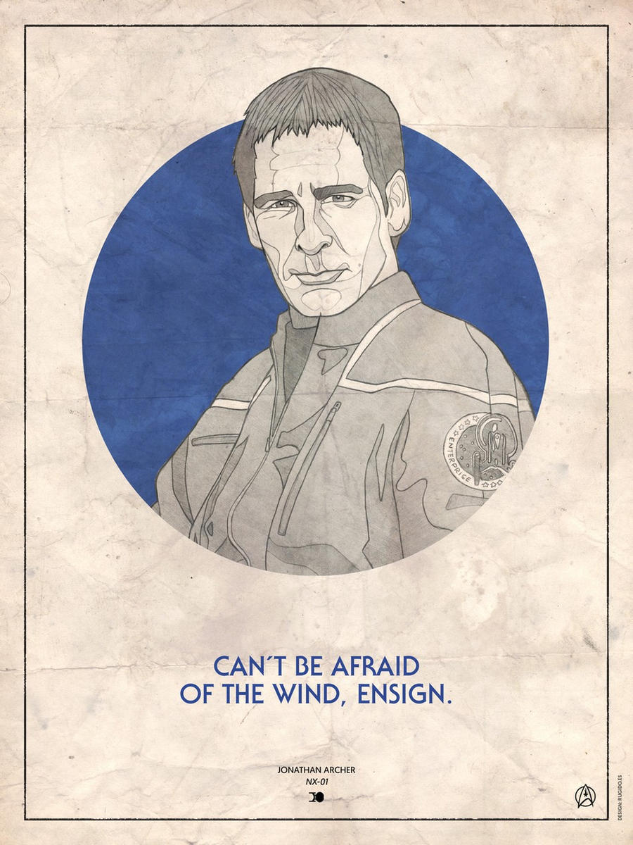 Star Trek Captains - Jonathan Archer by RUGIDOart