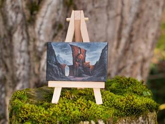 Mount Gundabad mini painting by RUGIDOart
